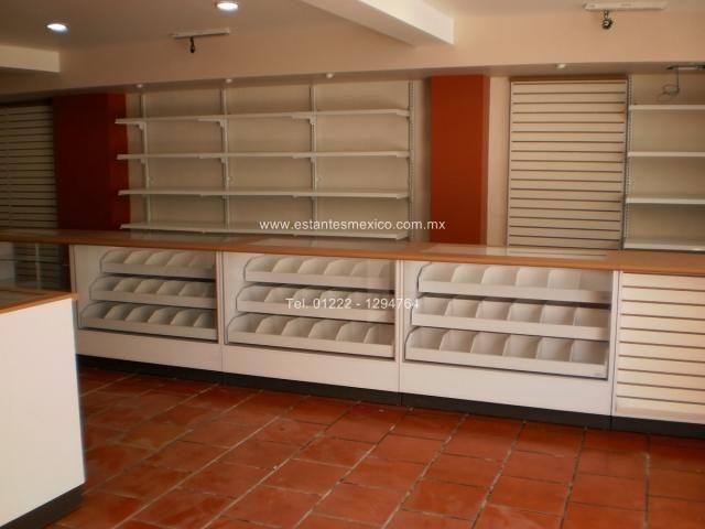 Mostradores y vitrinas para tiendas farmacias y palelerias for Idea muebles puebla