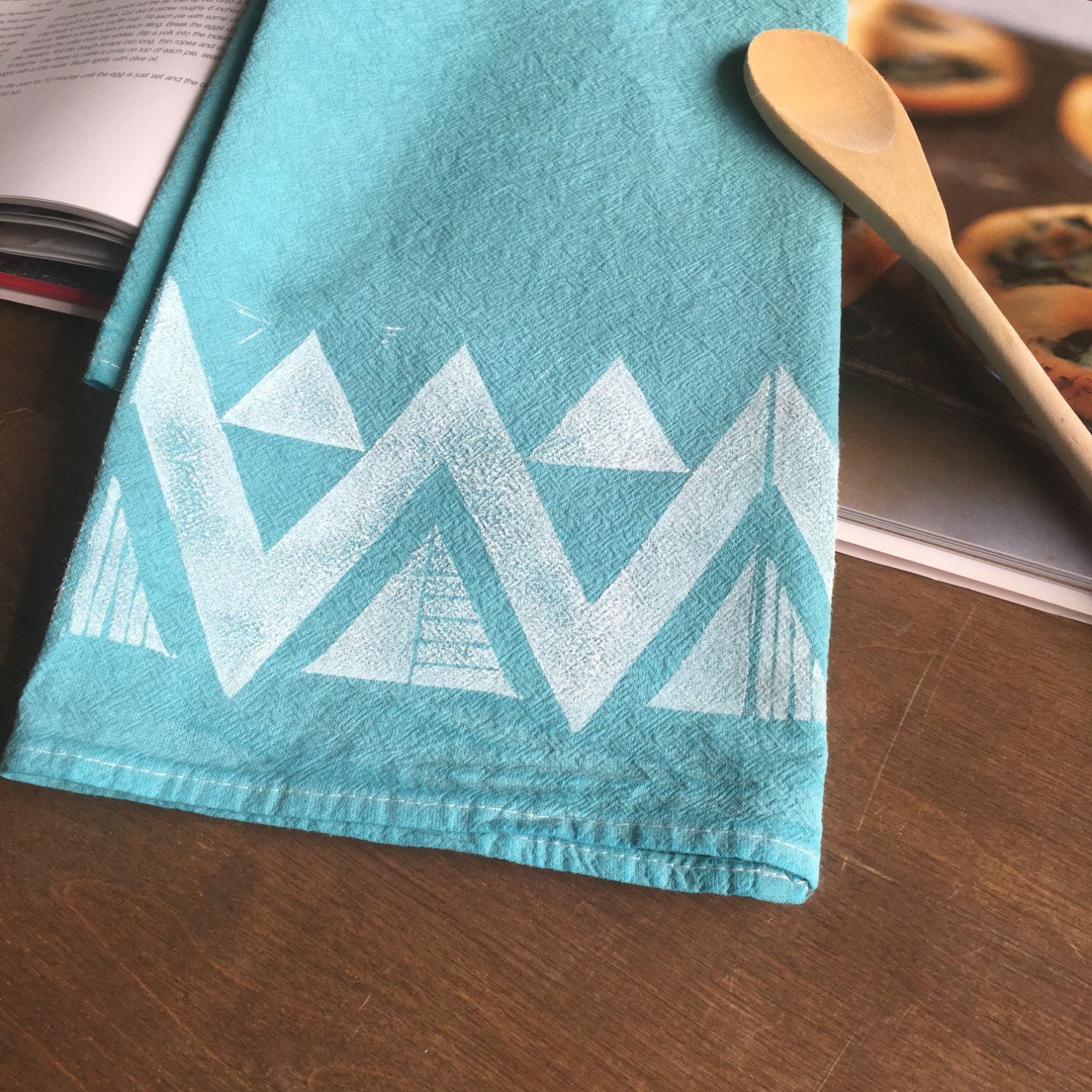 A hand-printed and hand-dyed flour sack towel from my Etsy shop ...