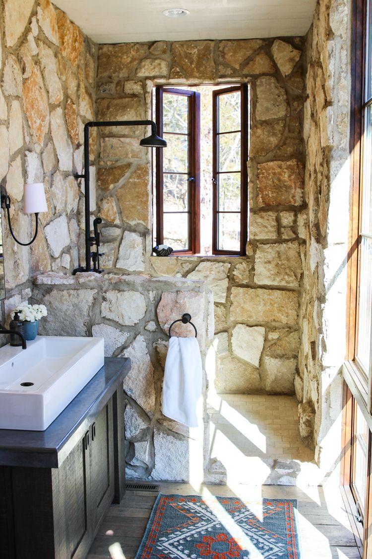 Portfolio Rustic Cottage Bathroom Cottage Bathroom Stone Shower