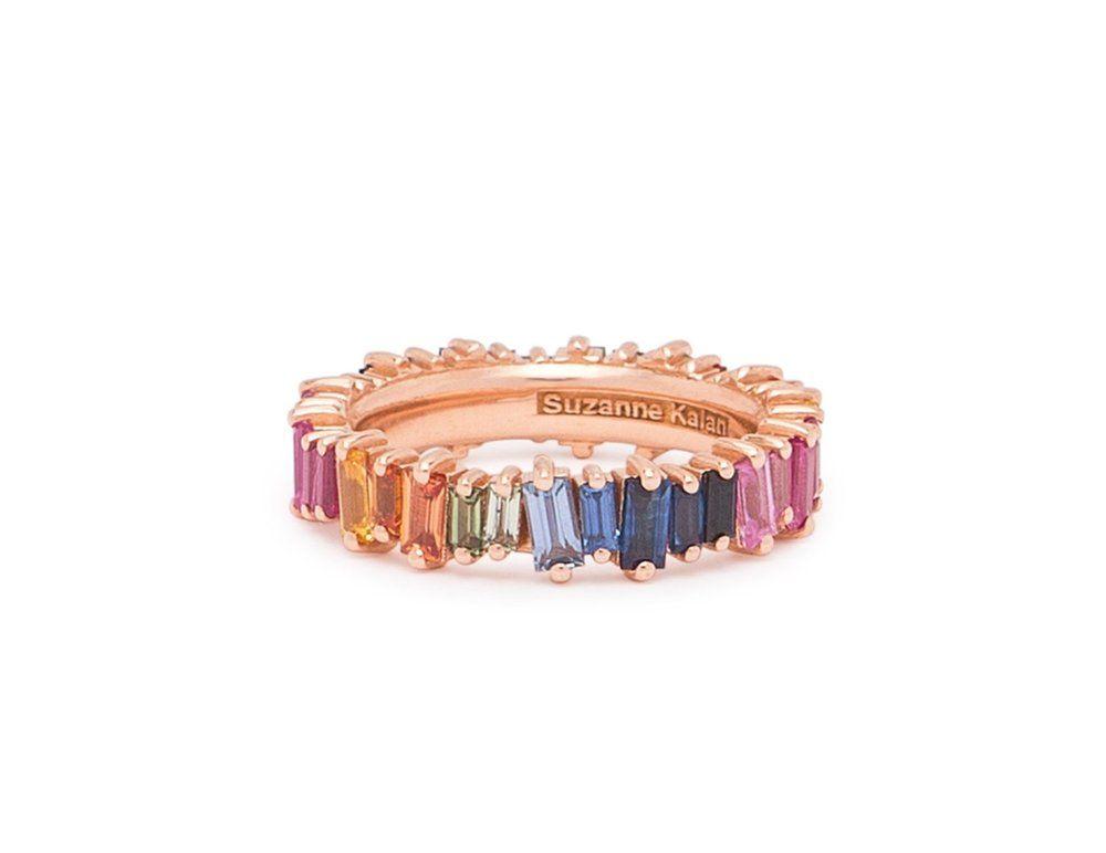 8fe5462e9 Rainbow Sapphire Baguette Eternity Band in 2019 | Jewelry Wishlist ...