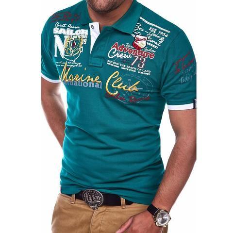 ad231803f9daa ZOGAA Men's Polo Shirt Letter Printed Polo Men Short-sleeved Polo ...