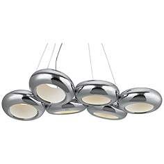 "ET2 Donuts 33 1/2"" Wide Polished Chrome LED Chandelier"