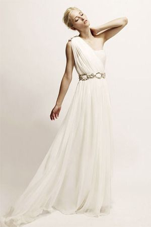 flowing white Marchesa gown | Pretty Things | Pinterest | Brautmode