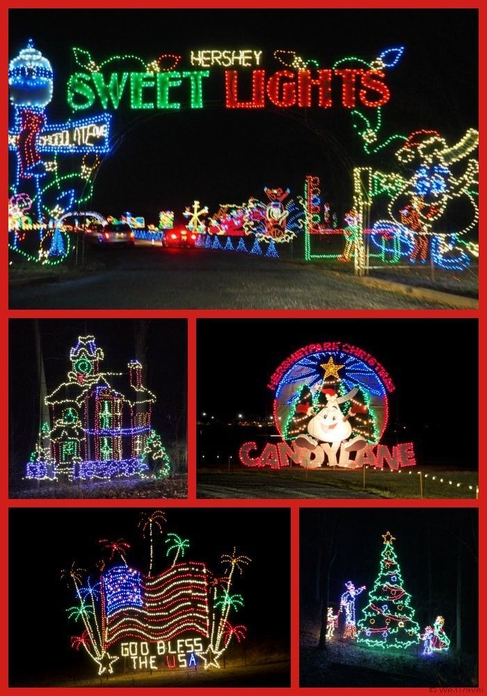 hershey sweet lights is a drive through holiday light display with 2 miles of festive decorations - Hershey Christmas Lights