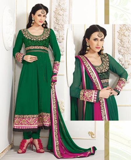 A pleasant looking yet attractive anarkali outfit