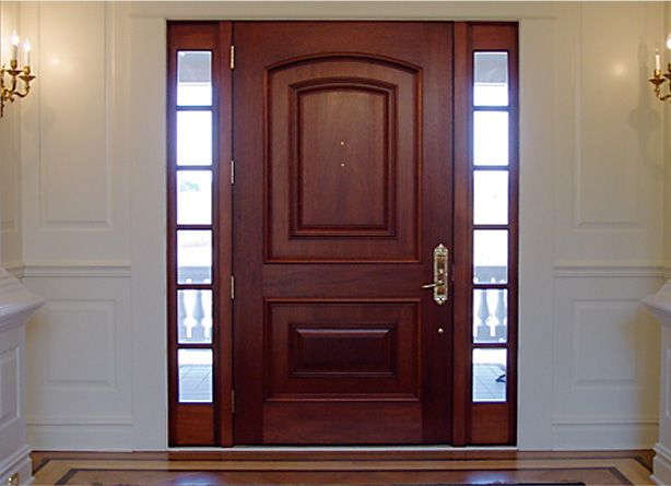 Wide Mahogany Entry Door With Raised Panels Puerta Del Frente