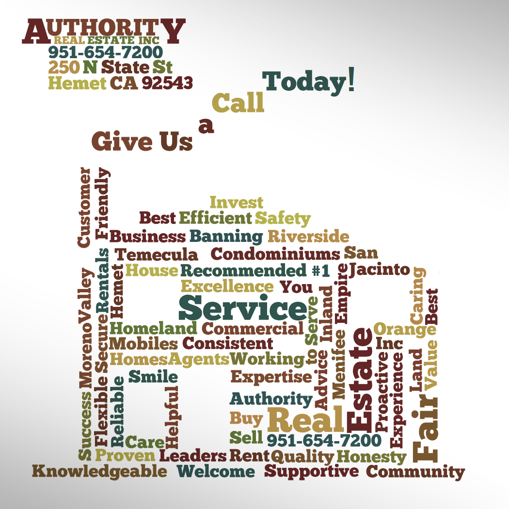 Our Team And Service In Word Art Form Authority Real Estate