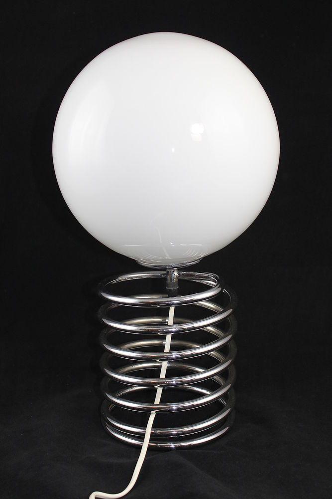 70er jahre chrom tischlampe spirale lampe spirale honsel nach ingo maurer lampen. Black Bedroom Furniture Sets. Home Design Ideas