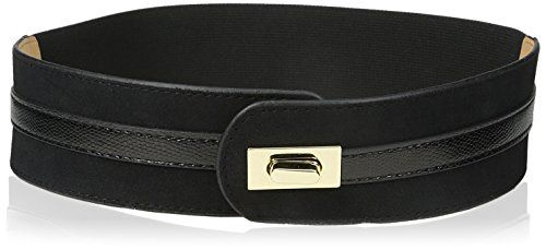 elise m. Women's Amber Seude Turnlock Waist Belt, Black, Medium/Large >>> Be sure to check out this awesome product.
