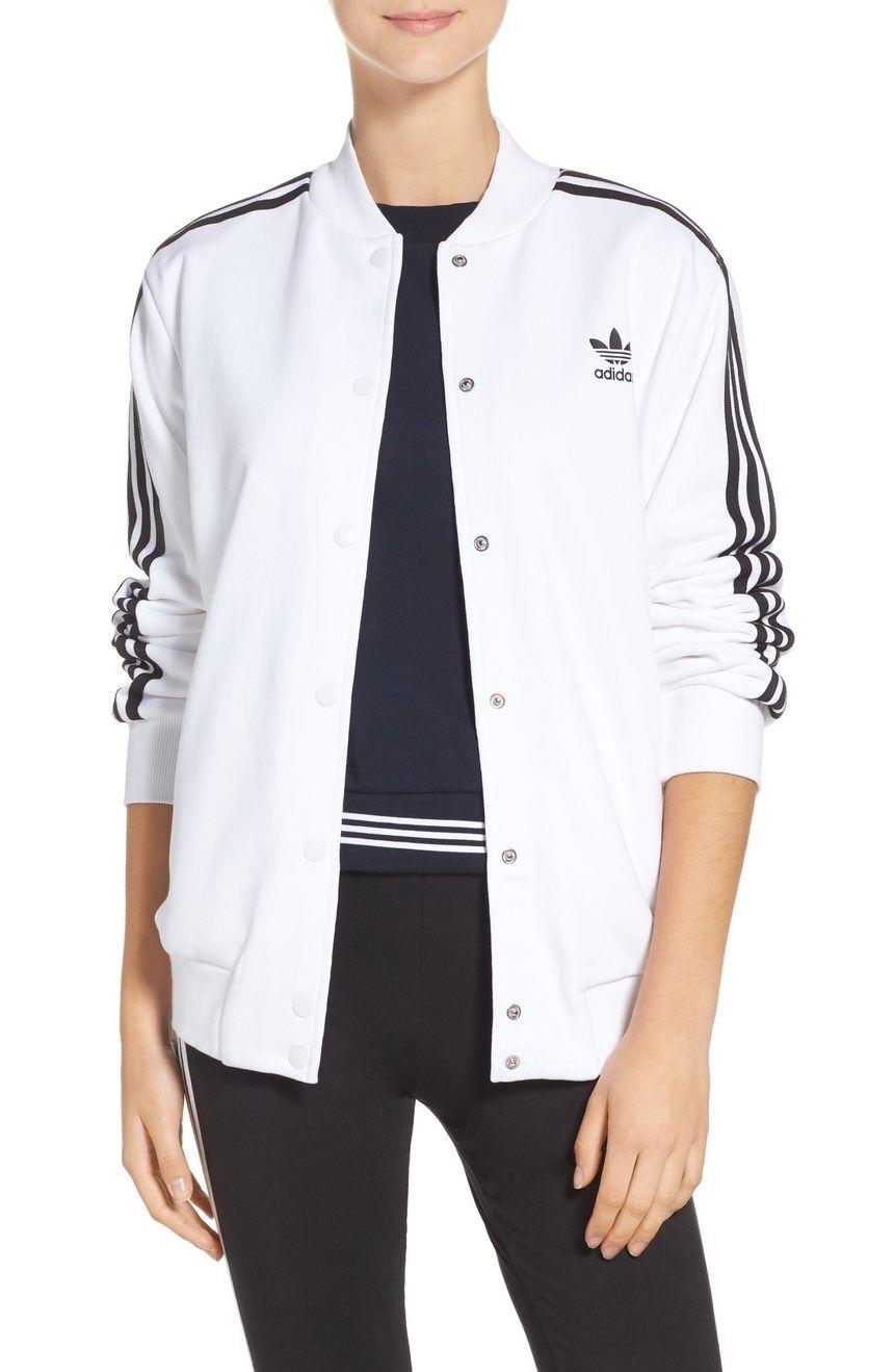 adidas 3-Stripes Bomber Jacket | Bomberjacke, Adidas damen ...