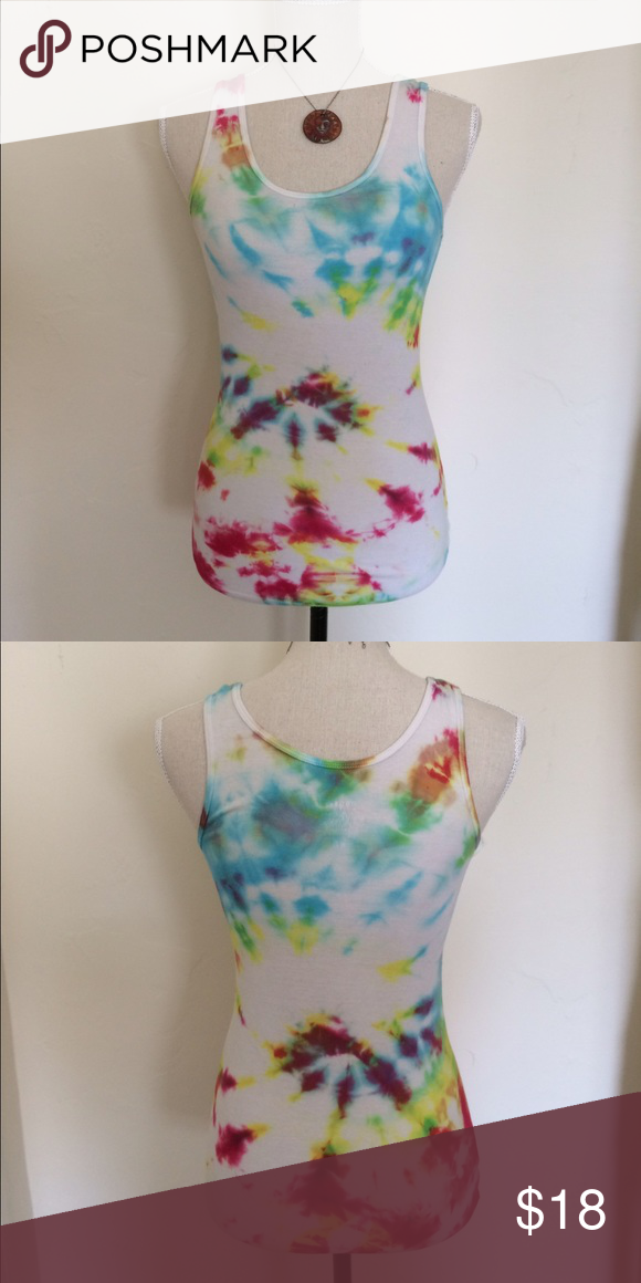 Hand-Dyed Tie-Dye Tank Super soft! Tops Tank Tops