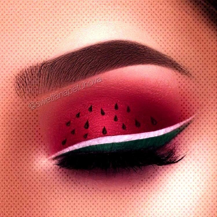 maquillage pastèque commun makeup beauty fête hors