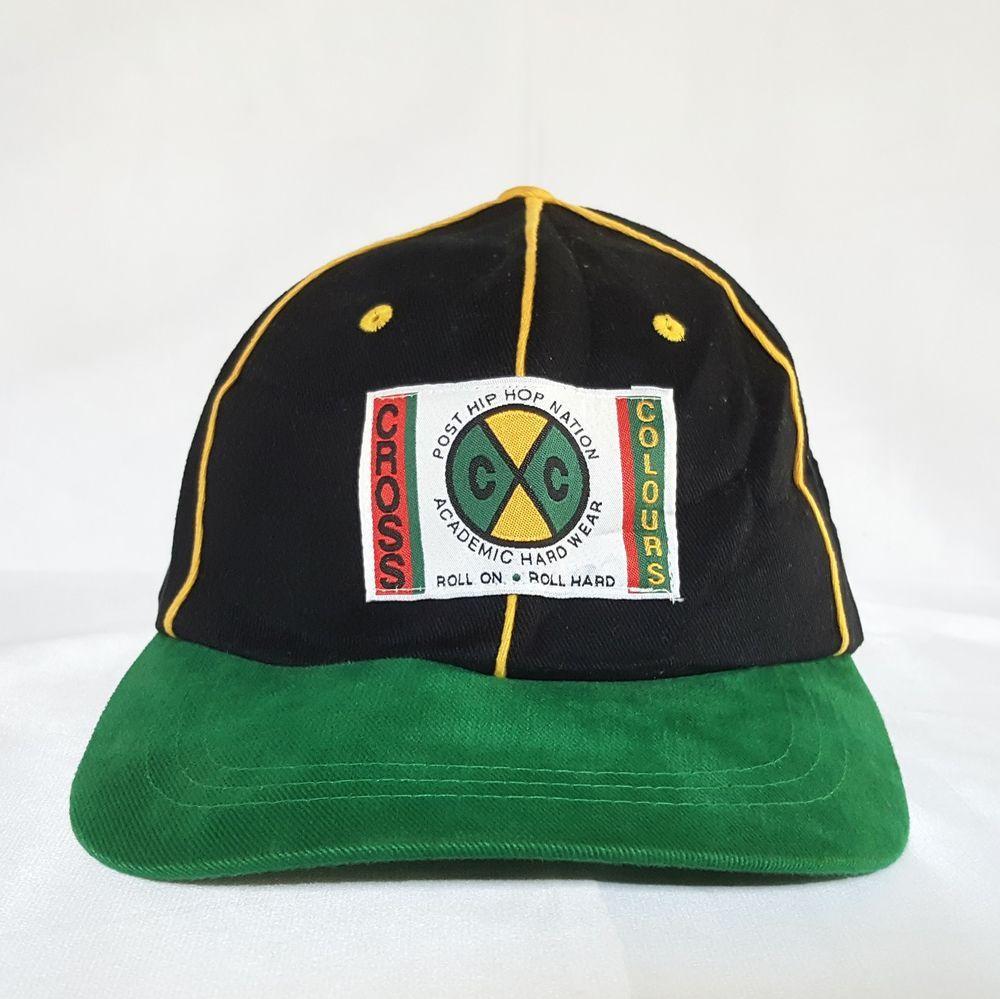 Details about Vtg 90's Cross Colours Snapback Baseball Hat