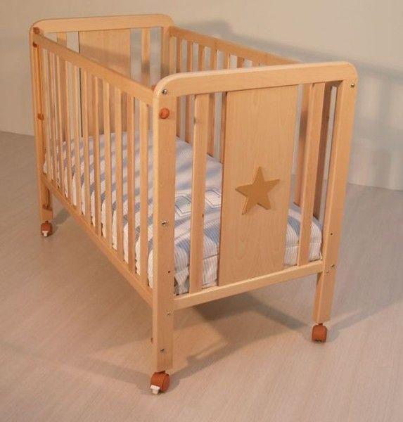 cuna de bebe de madera blasi bed estrella natural [130p natural ... - Tiendas De Cunas Para Bebes