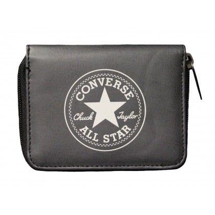 Converse Geldbörse Retro Wallet Zip Black Grey | Converse
