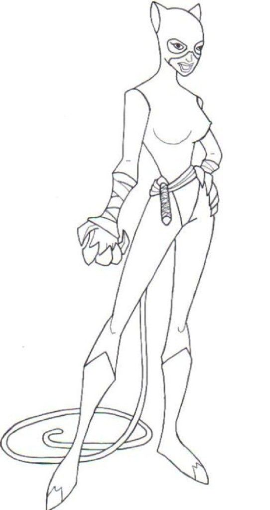 Kids Cartoon Catwoman Google Search Coloring Pages Catwoman