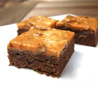 Brownies with Dulce de Leche Pecan Frosting