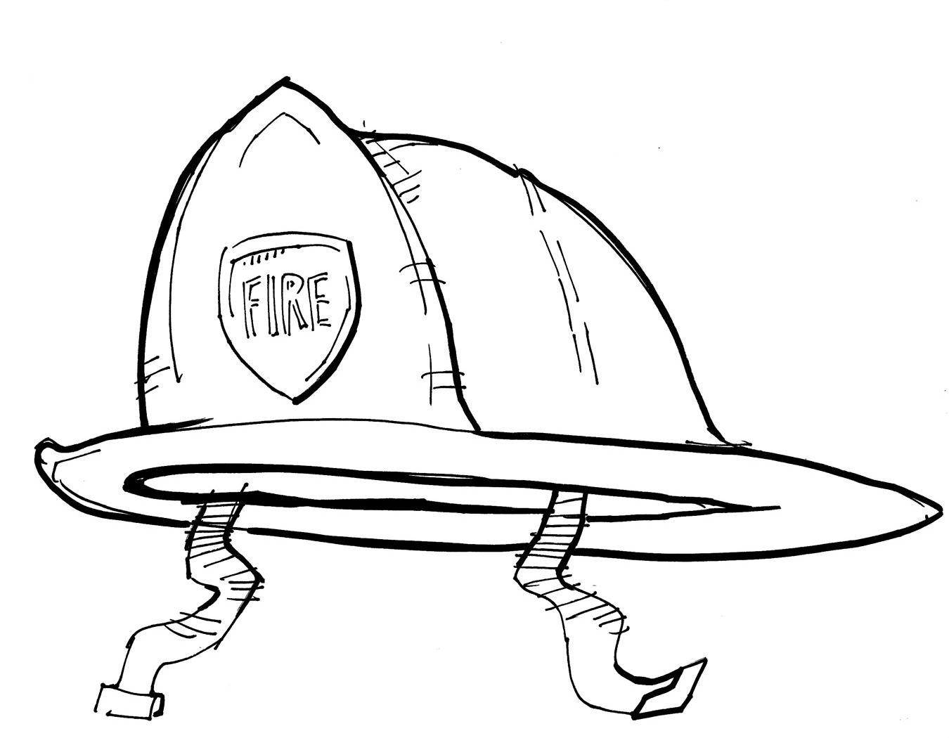 Printable Sombrero Coloring Page | Dibujos de Profesiones: Casco