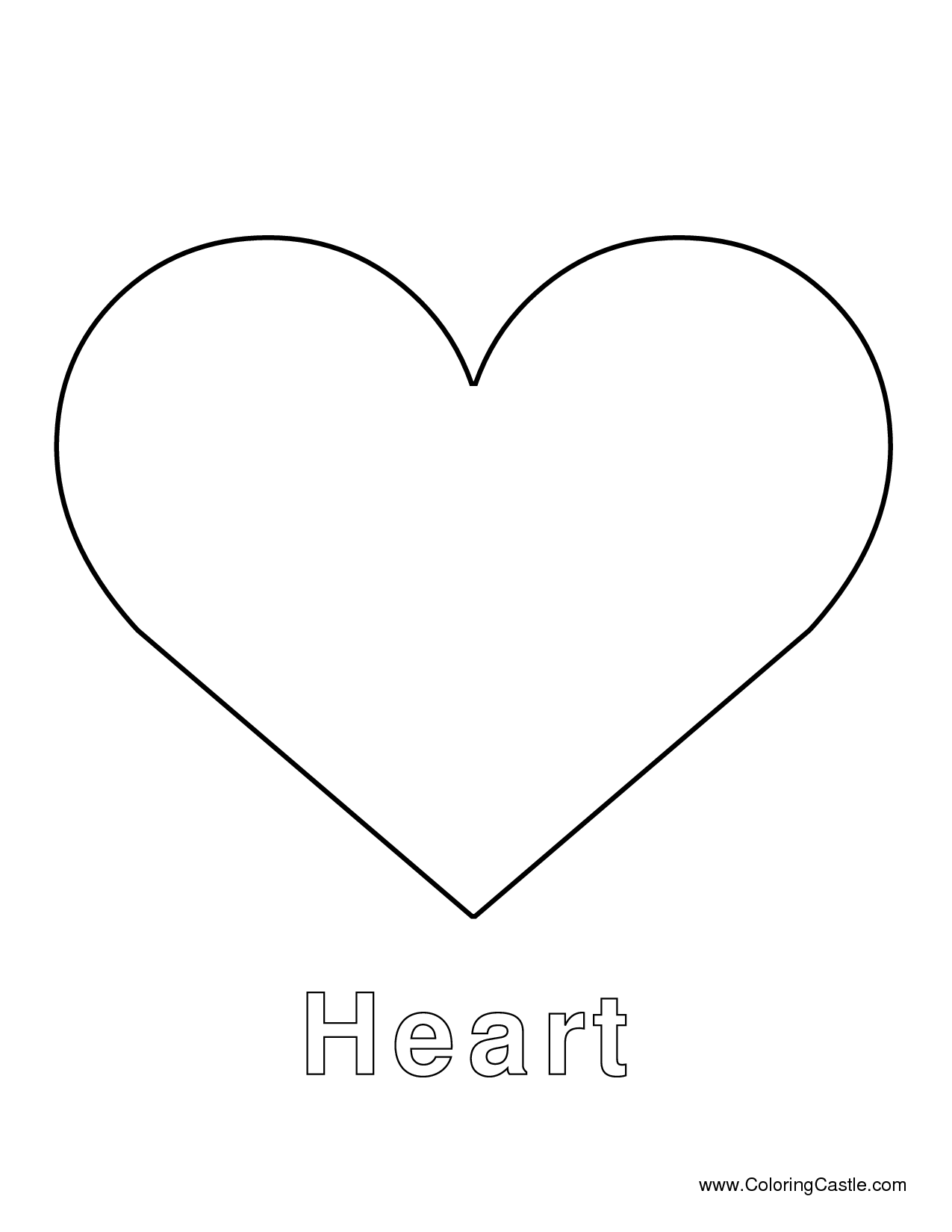 Printable full page large heart pattern. Use the pattern for crafts ...