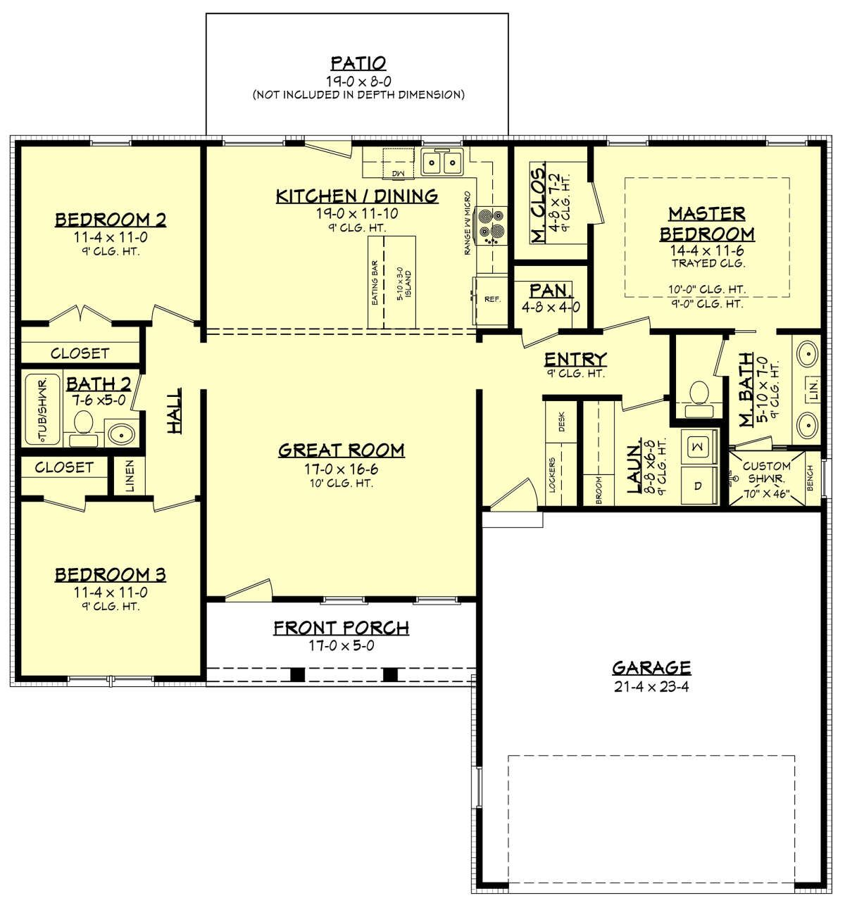 House Plan 041 00211 Modern Farmhouse Plan 1 416 Square Feet 3 Bedrooms 2 Bathrooms Farmhouse Plans Farmhouse Style House Plans Farmhouse Style House