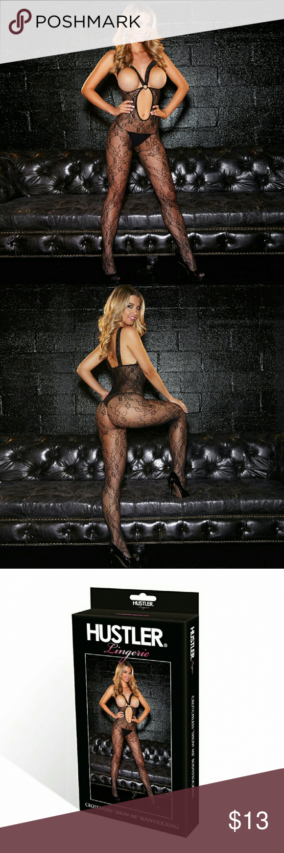17fd895fb Hustler Lingeries Crotchless Show Me Bodystocking The crotchless show me  bodystocking leave very little imagination with a bold design that meant  for show ...