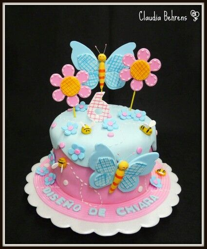 Nice Cake Art Party Cakes Cupcake Cookies Butterfly Flowers