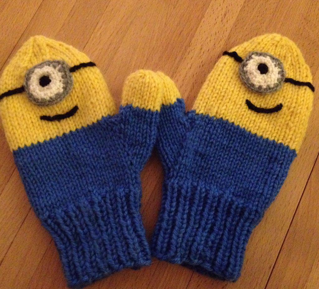 Minion mittens adapted a simple childs mitten pattern and made minion mittens adapted a simple childs mitten pattern and made it my own pic bankloansurffo Choice Image