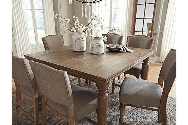 The Tanshire Counter Height Dining Room Table From Ashley Furniture  HomeStore Part 63