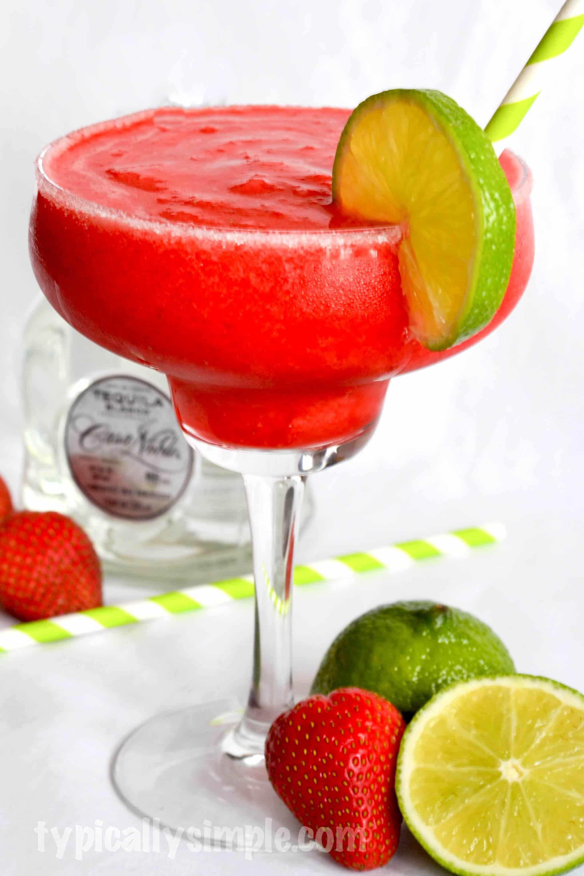 Strawberry-Lime Margarita Recipe - Typically Simple