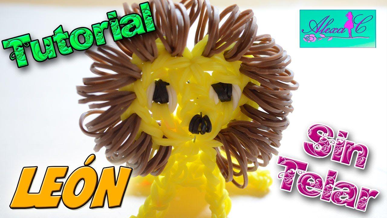 6374c2b95d1f ♥ Tutorial: León en 3D de gomitas (sin telar) ♥ | Rainbow Loom ...