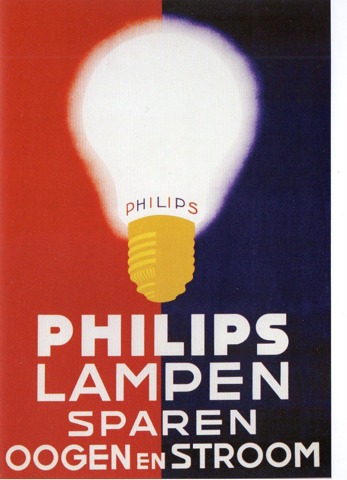 Oude philips lampen reclame wat mij erg opvalt is dat de