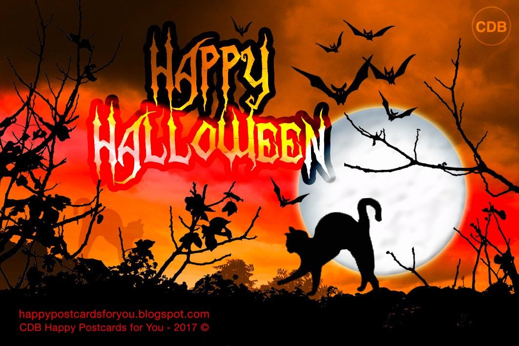 Cdb Happy Postcards For You Greeting Card Happy Halloween With A Picture Halloween Greetings Halloween Wallpaper Iphone Halloween Karaoke