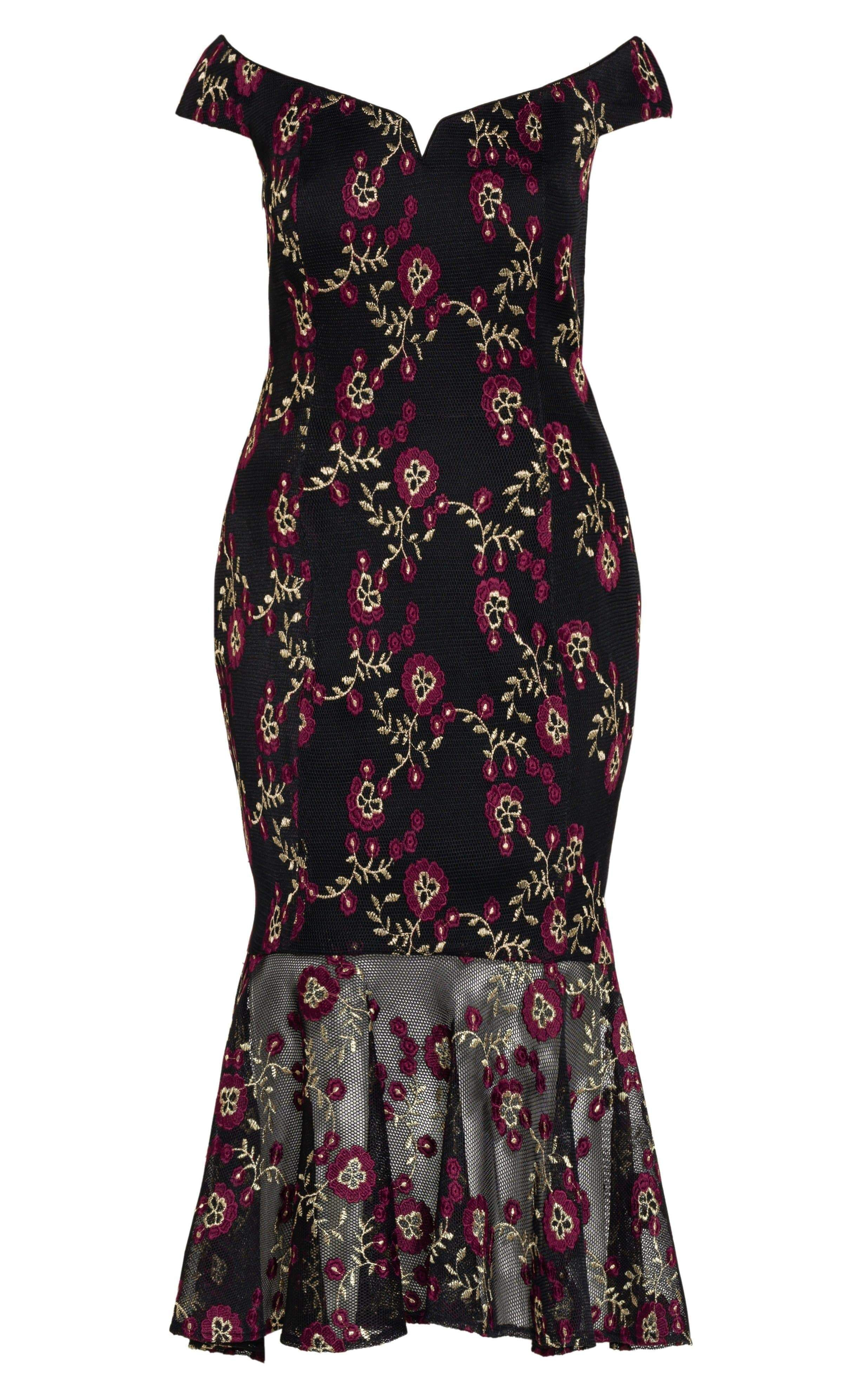 City Chic Decadence Dress in Black Size 14/X-Small