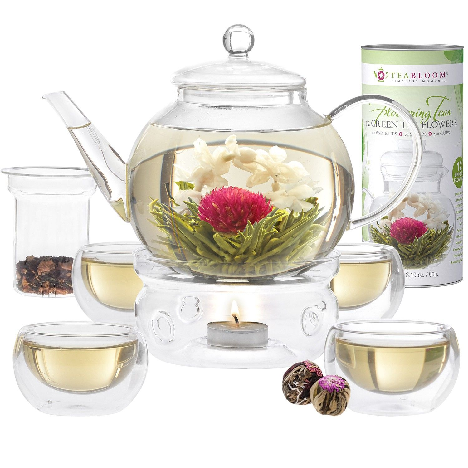 Celebration Blooming Tea Gift Set Includes A Borosilicate Glass