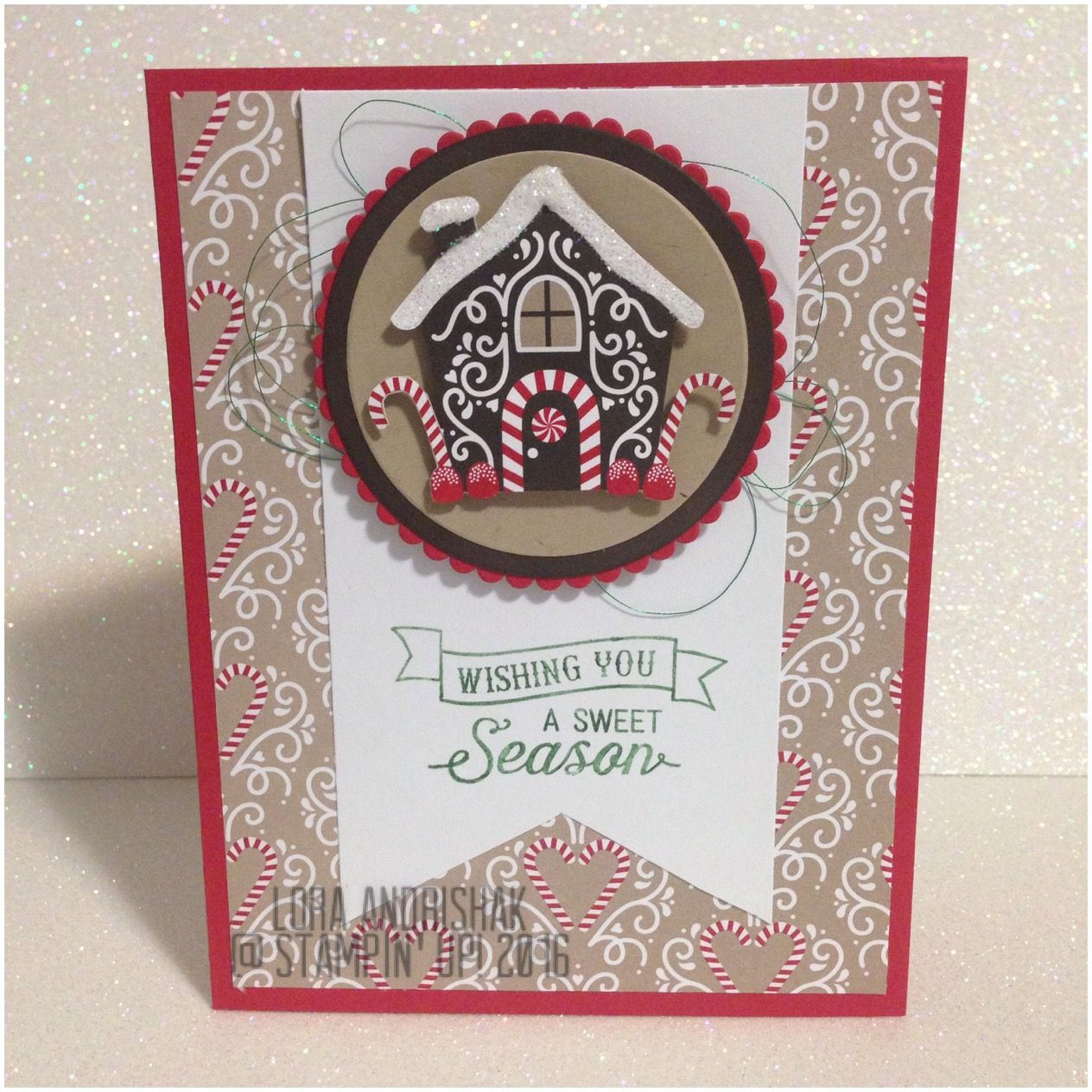 Candy Cane Lane DSP Gingerbread house Oh, What Fun Stampin Up ...