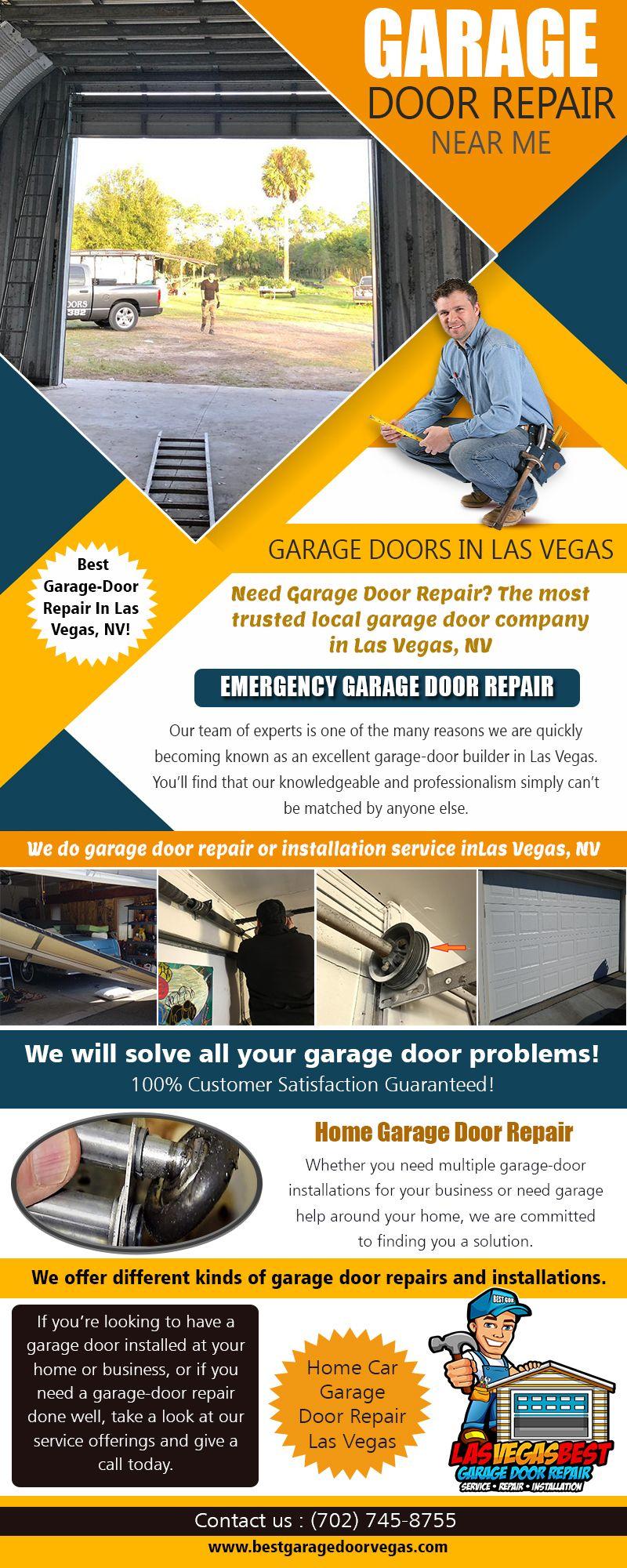 Home Garage Door Repair Service From Certified Technicians At Https Bestgaragedoorvegas Com Garage Door Re Door Repair Garage Door Repair Garage Door Springs