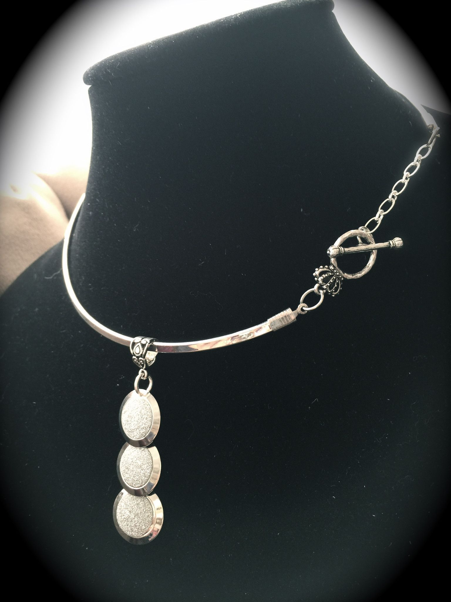 Silver Plated Glam Collar Necklace