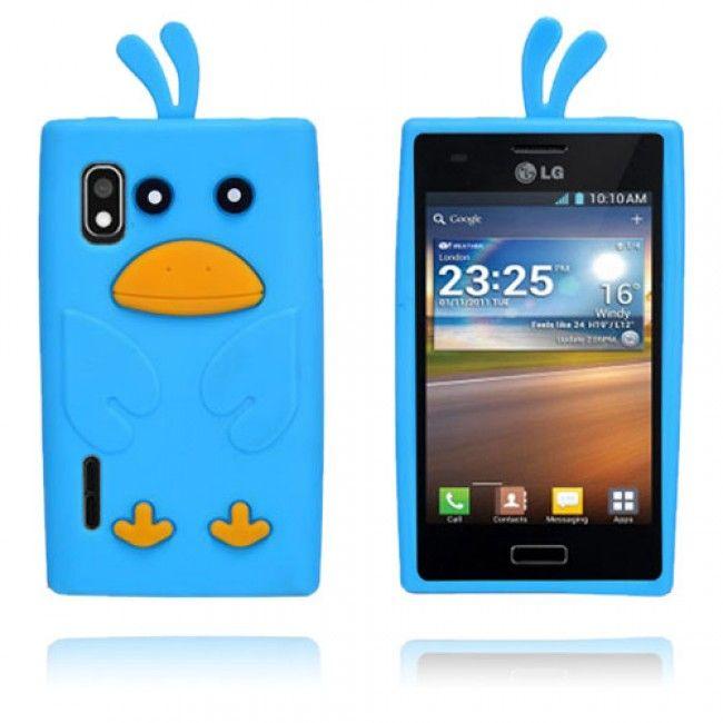 Duck (Sininen) LG Optimus L5 3D Suojakuori - http://lux-case.fi/duck-sininen-lg-optimus-l5-3d-suojakuori.html