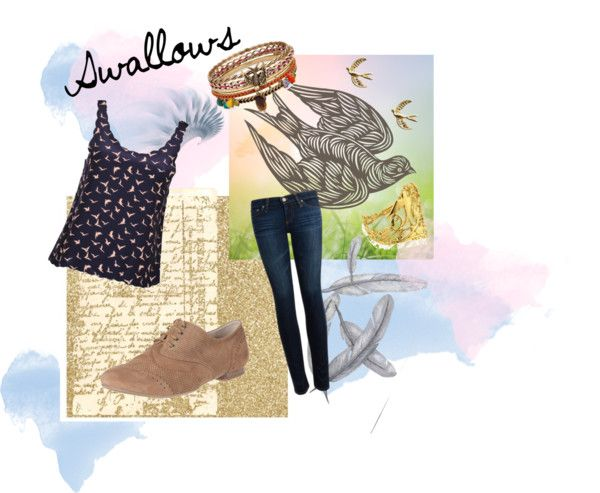 """Swallows"" by chellypie on Polyvore"