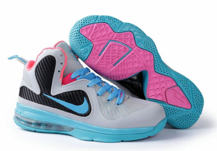Womens Nike Lebron James 9 Grey Blue Pink, cheap Nike Lebron 9 Womens, If  you want to look Womens Nike Lebron James 9 Grey Blue Pink, you can view  the Nike ...
