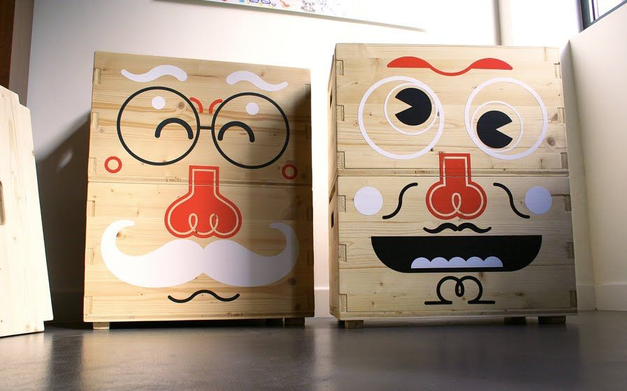 faces on boxes - Google Search