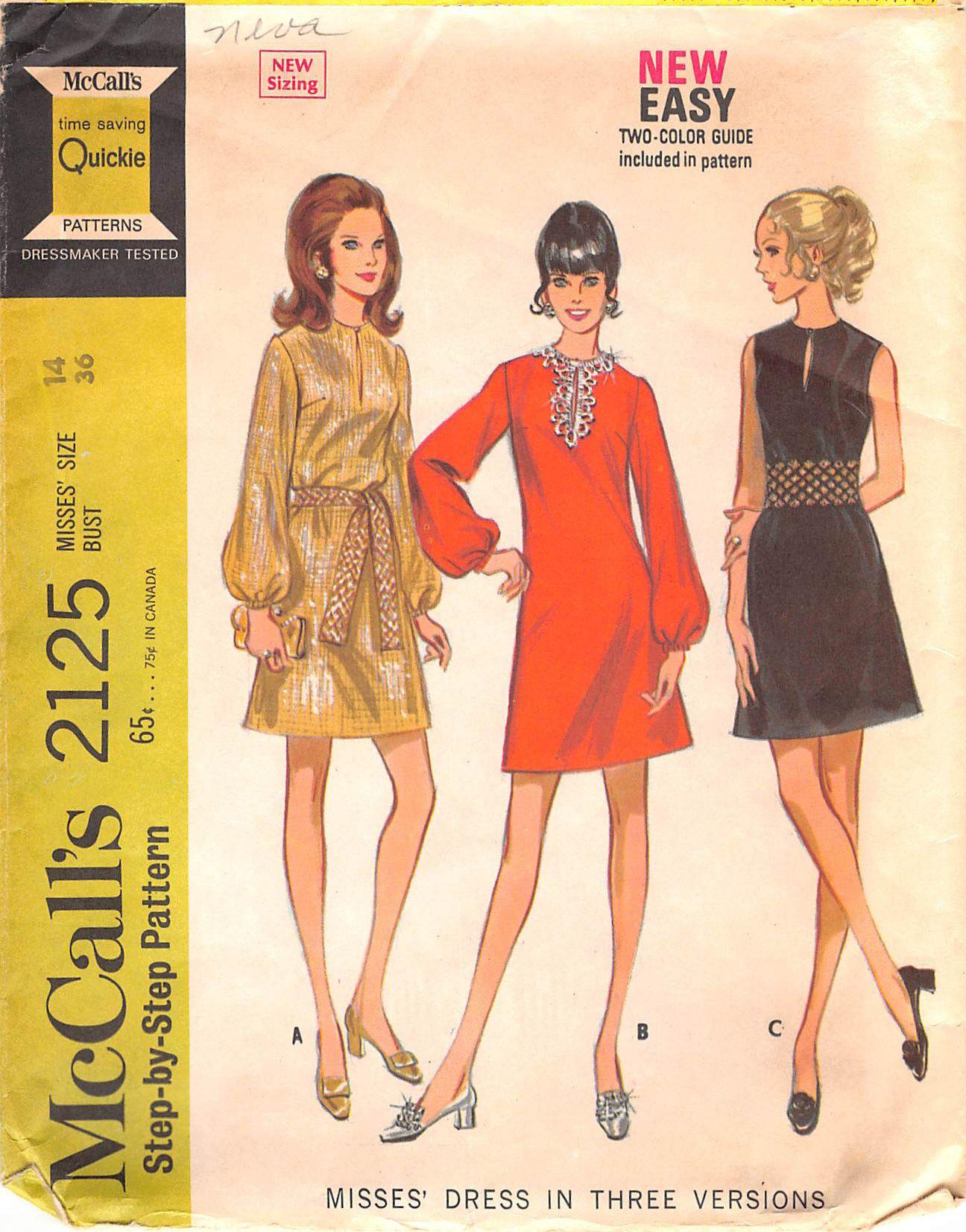 McCall's 2125 #sewingpatterns
