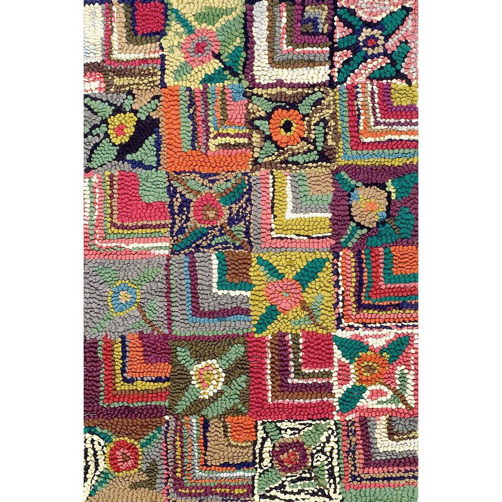 Gypsy Rose Cotton Hooked Rug Design By Dash Albert