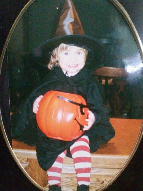 """You were 3 yrs old and determined to be  """" Wicky Witch """"    I love you babygirl."""