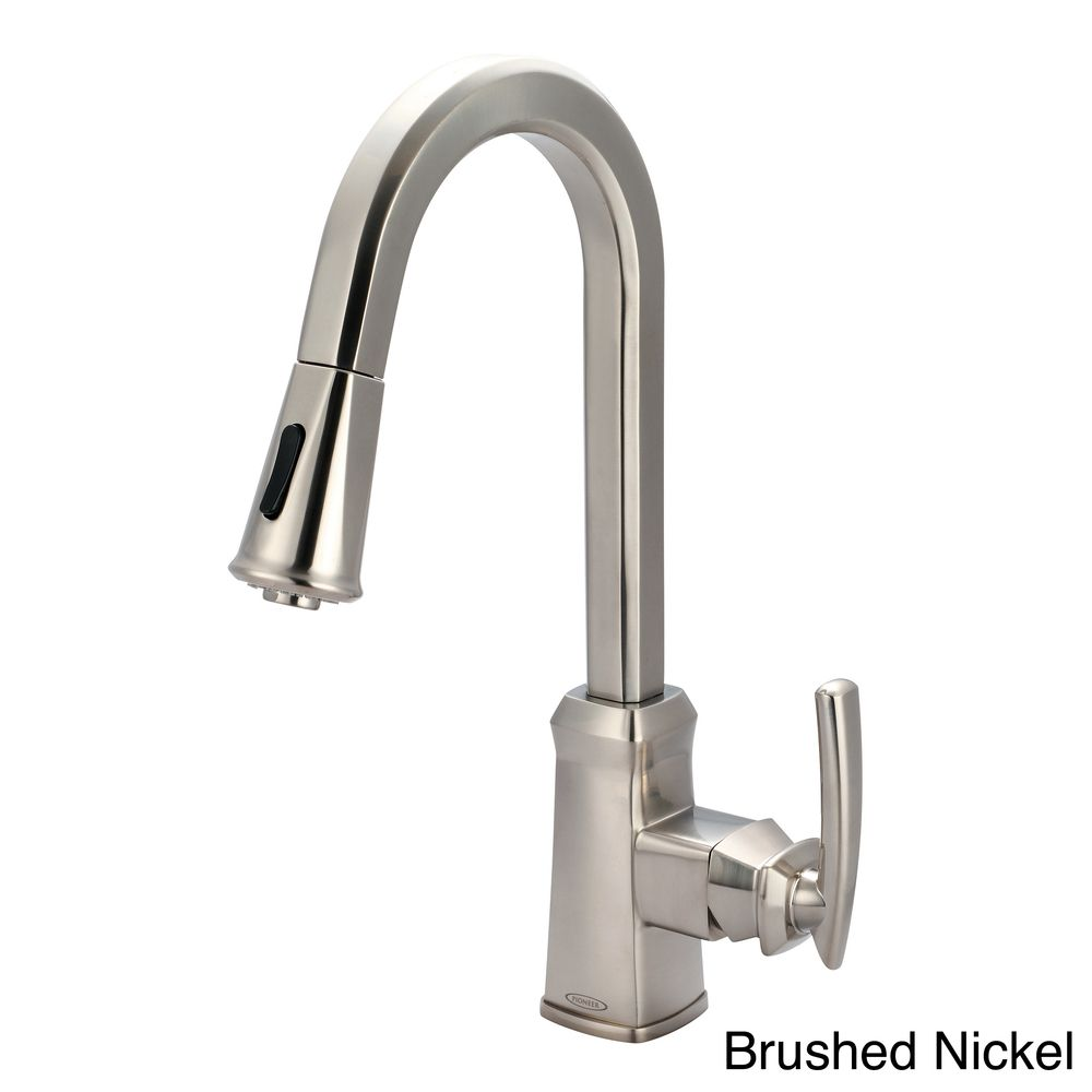 Pioneer Gibraltar 2GB250 Single Handle Pull Down Kitchen Faucet | Overstock.com  Shopping