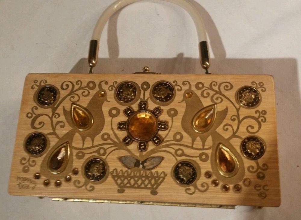 7da5f0d163 Vintage Enid Collins of Texas ~ Money Tree ~ Original Wood Box Bag Purse  Birds  EnisCollins  BoxBag