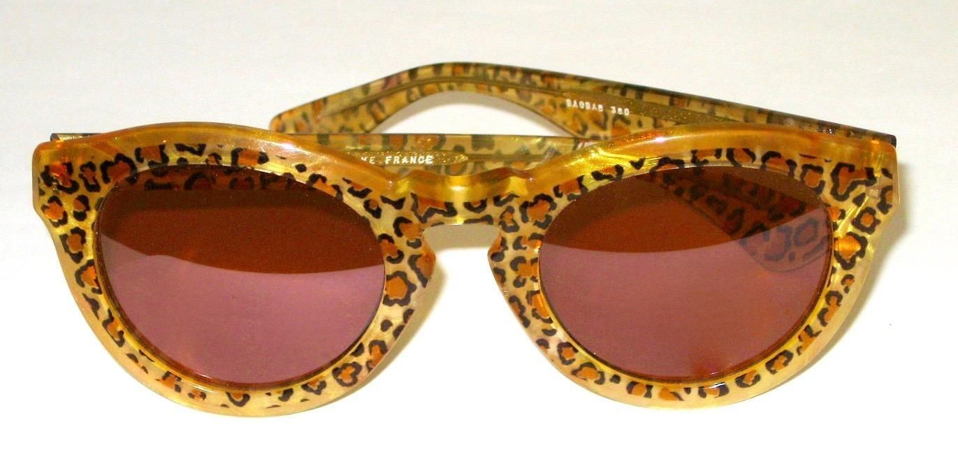 Vintage 1980's Authentic Jean Lafont Panther Sunglasses France