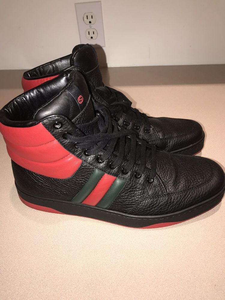 c1b18d1f017a75 Gucci Mens Sneakers Red Black Size 8  fashion  clothing  shoes  accessories   mensshoes  casualshoes (ebay link)