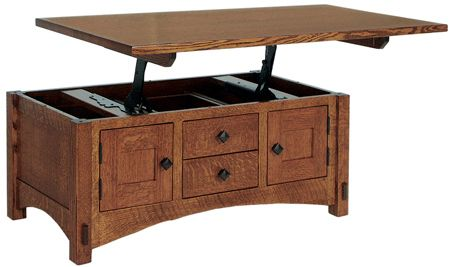 f Springhill Lift Top Coffee Table in Oak