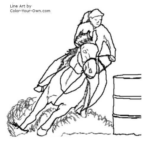 Barrel Racing Coloring Pages Coloringpageskid Com Horse Coloring Coloring Pages Barrel Racing